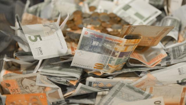 zmuchlané bankovky