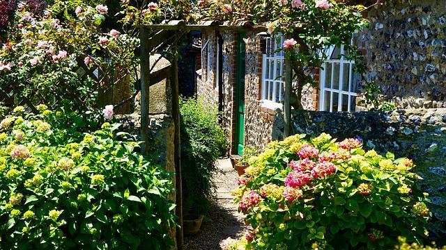 cesta v zahradě