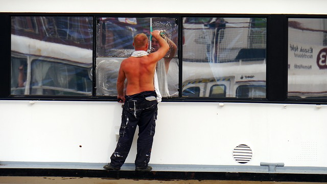 mytí oken lodi