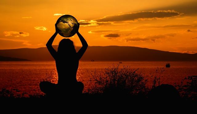 meditace se zeměkoulí