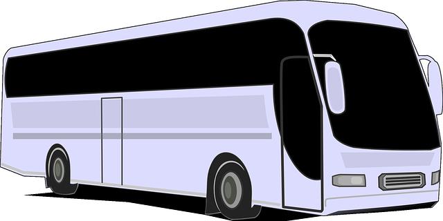 kreslený autobus